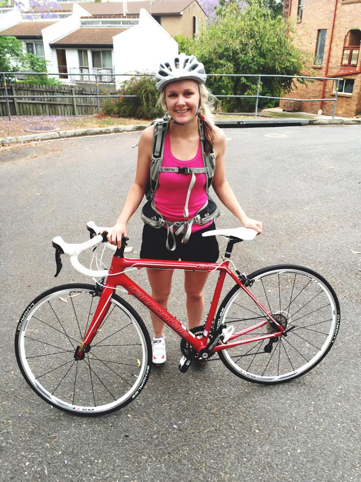 My Name is April - female cyclist