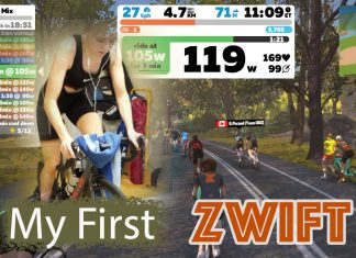 My First Zwift - My name is April